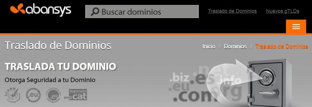 abansys hosting ofrece un plan de traslado dominios a todos sus usuarios.