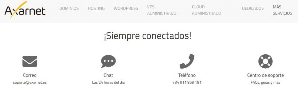 El servicio de atención de Axarnet es dedicado y tiene varias formas de contacto.