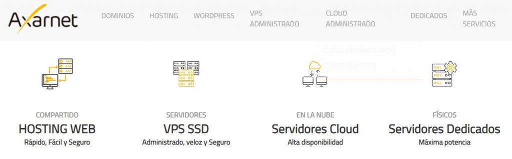 axarnet hosting ofrece servicios web para profesinoales.