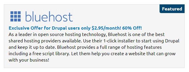 drupal descuentos cms hosting