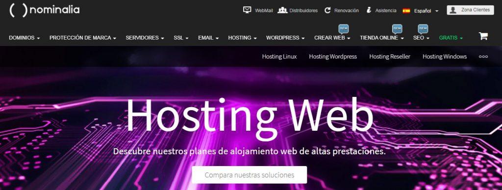 nominalia hosting web