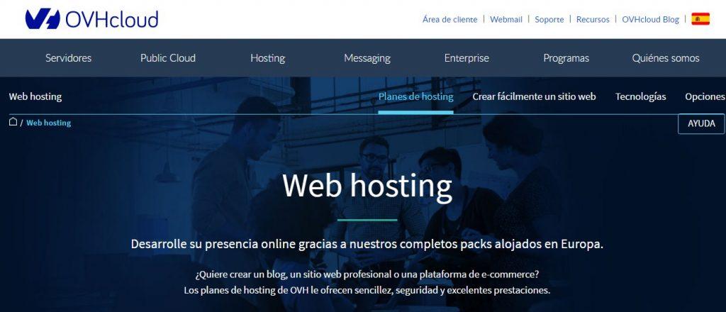 ovh hosting web es un proveedor de hosting internacional con buenas opiniones de los usuarios.