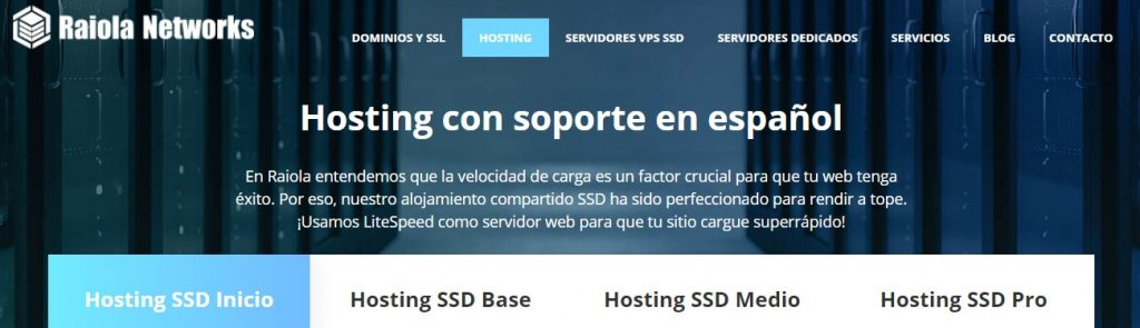raiolanetworks es un proveedor de hosting de España con buenas opiniones.