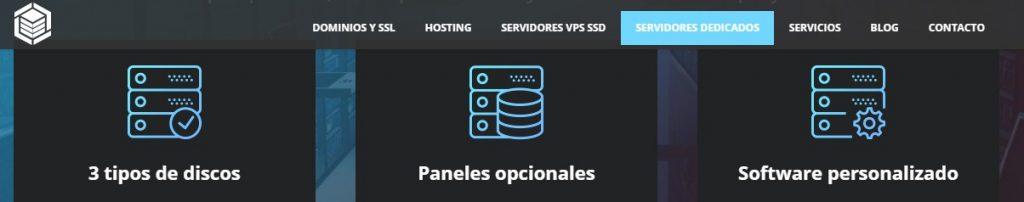 Este proveedor de hosting cuenta con servicios de servidores dedicados.