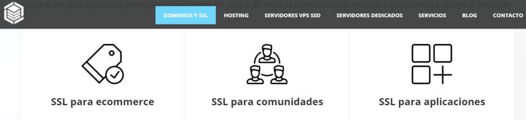 raiolanetworks cuenta con certificado SSL incluído en sus planes.