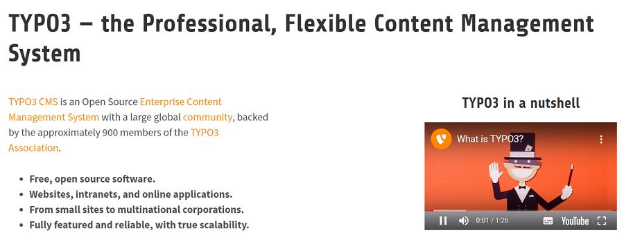 Un CMS Typo3 es un gestor de contenidos de código abierto, que os permite la realización de sitios web