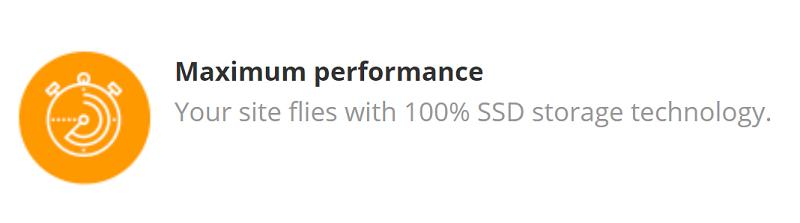 El almacenamiento SSD en los 3 planes de hosting es el disponible con el proveedor de servicios web Donweb