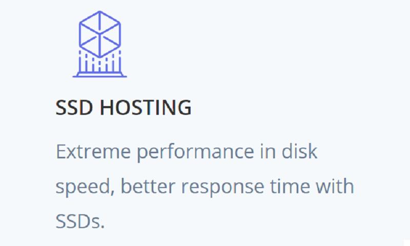 El almacenamiento de Power Host está un poco por debajo de lo que ofrecen otros proveedores