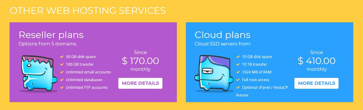 WIROOS cuenta con diferentes planes de hosting para tu página web