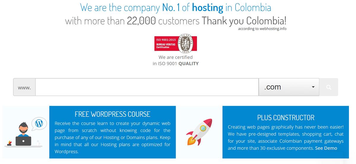 Colombia Hosting, es un proveedor de alojamiento recomendado en un espacio compartido manejado con el uso de un CMS entre ellos WordPress y Joomla