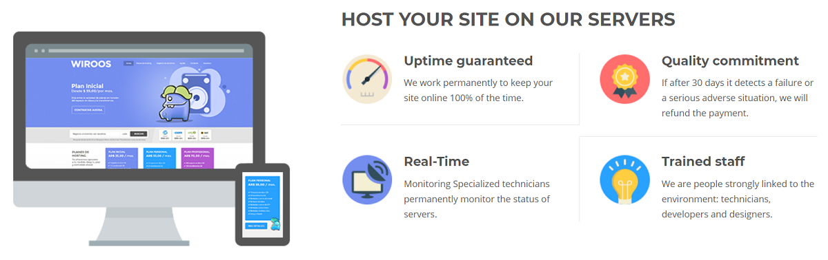 Wiroos es una empresa de hosting con servidores en Argentina y otros paises de Latinoamerica