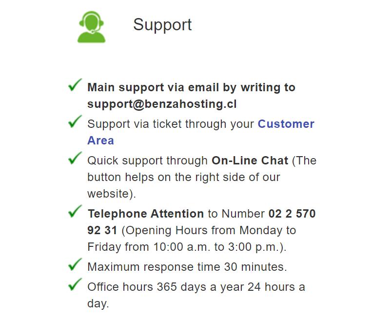 Podríamos decir que el soporte técnico de este Hosting es bastante promedio