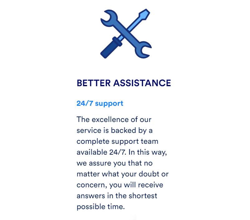 Ofreciendo un soporte técnico activo las 24 horas mediante su web oficial