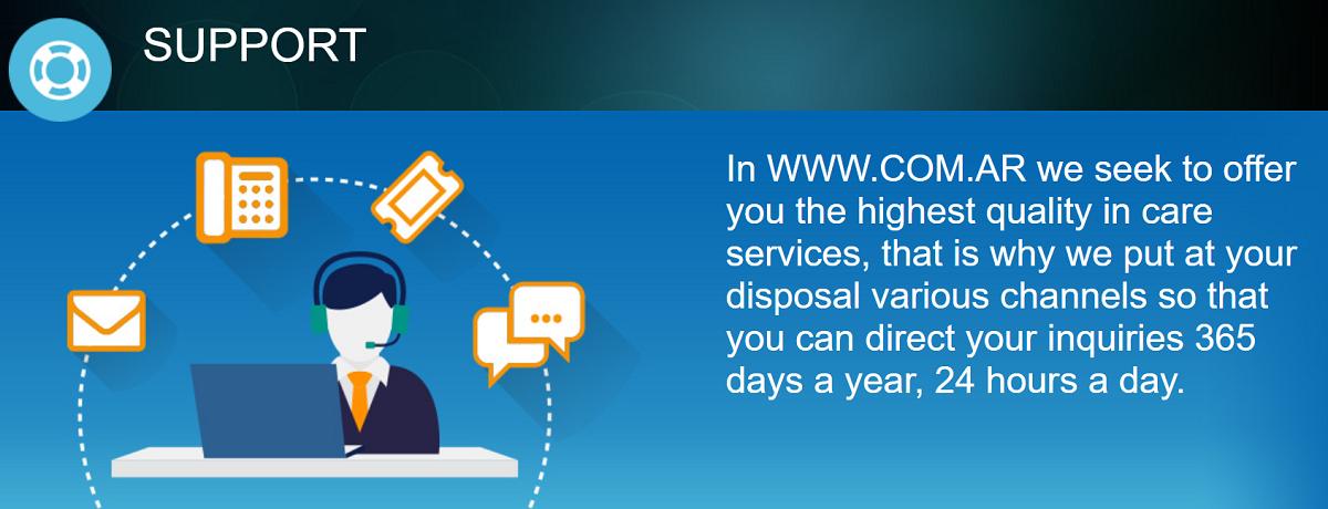 Com.ar hosting ofrece un producto de calidad por lo que no tendrás problemas durante su funcionamiento