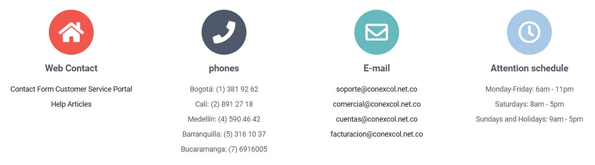 El soporte de Conexcol-Colombia es muy bueno según sus clientes