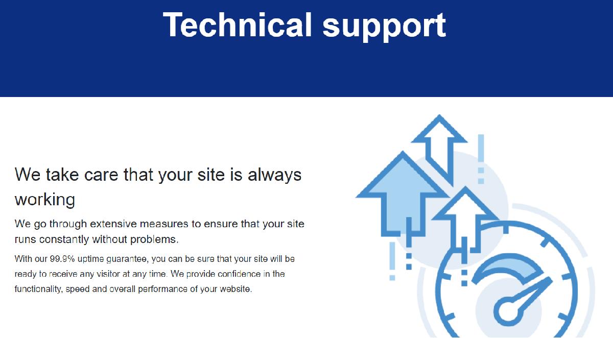 Hosting SSI ofrece un producto de calidad por lo que no tendrás problemas durante su funcionamiento