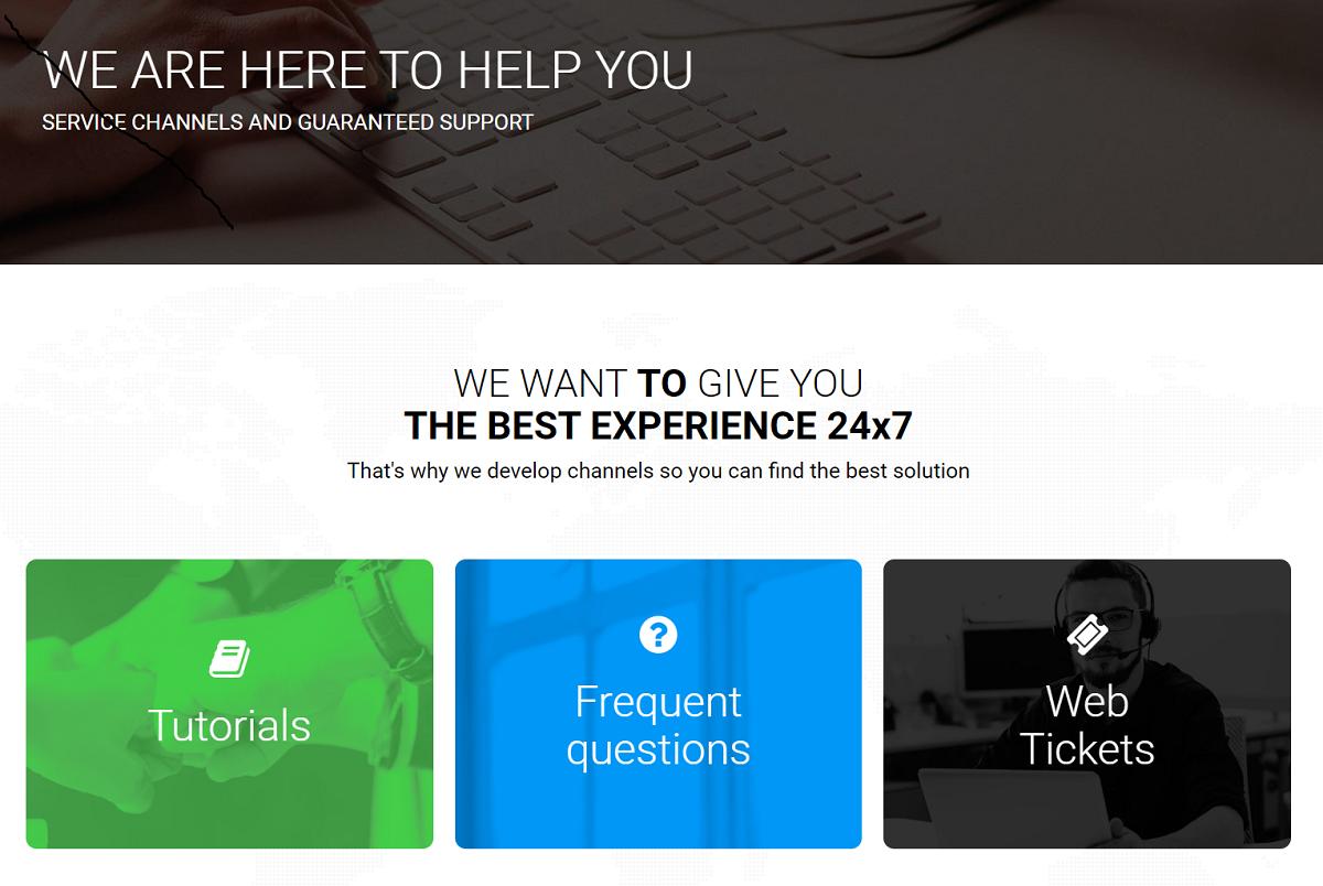 Latin Cloud promete excelente atención al cliente con teléfono 24/7, chat en directo y política de novedades
