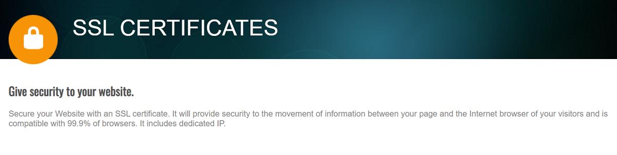 Com.ar hosting ofrece certificado SSL para asegurar tu web, lo que es bastante beneficioso.