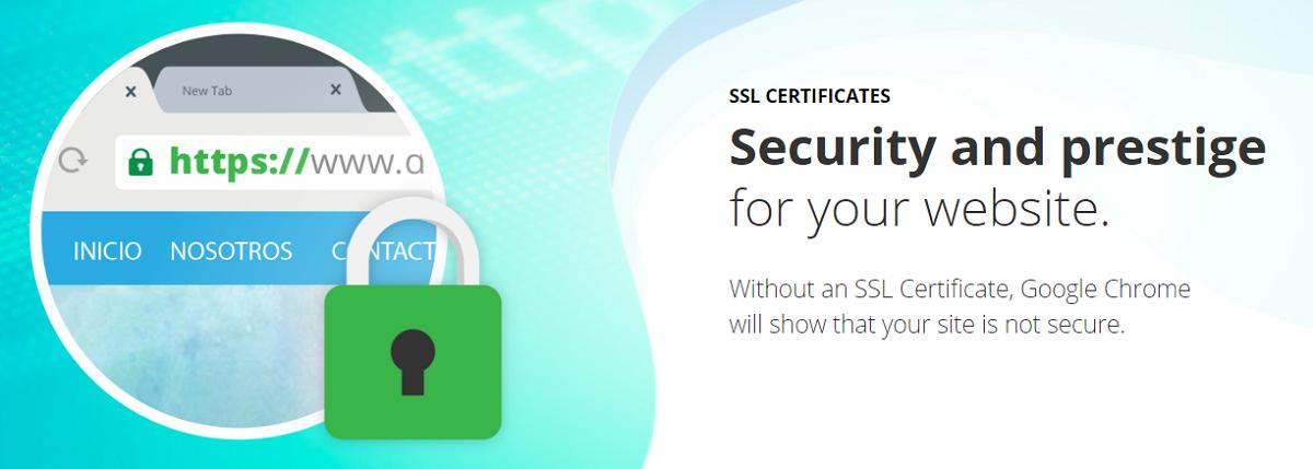 Donweb ofrece distintos planes de certificación SSL de un año entero