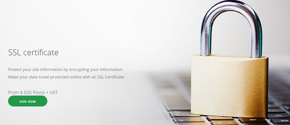 No ofrece certificado SSL lets encrypt de manera gratuita como la mayoría de los proveedores
