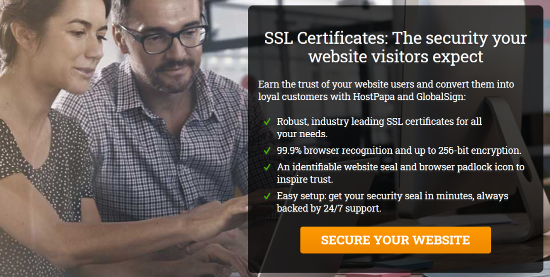 Todos los planes de HostPapa cuentan con certificado SSL Let´s Encrypt totalmente gratis