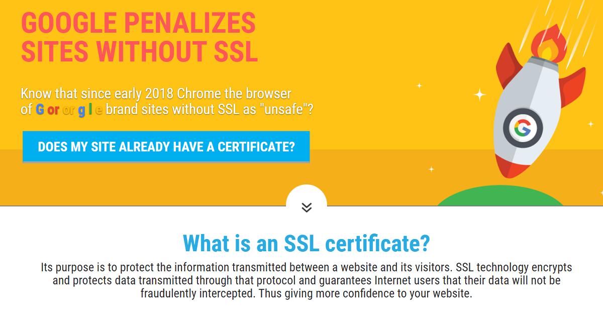 El certificado SSL es una característica fundamental para los sitios web