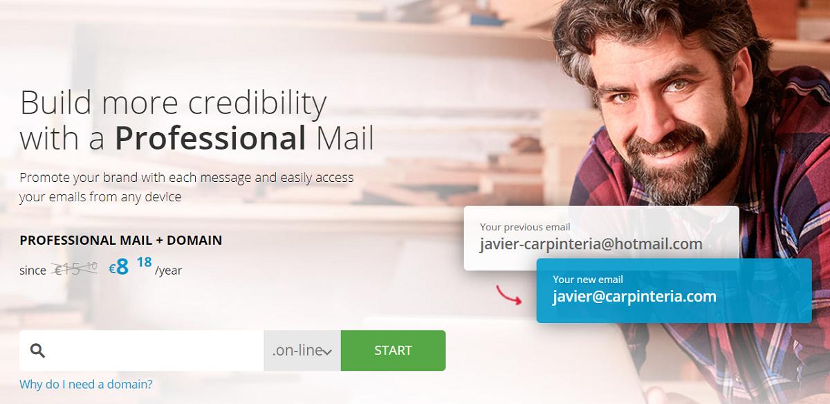 En Donweb te invitan a los usuarios interesados a generar mayor credibilidad con un correo profesional