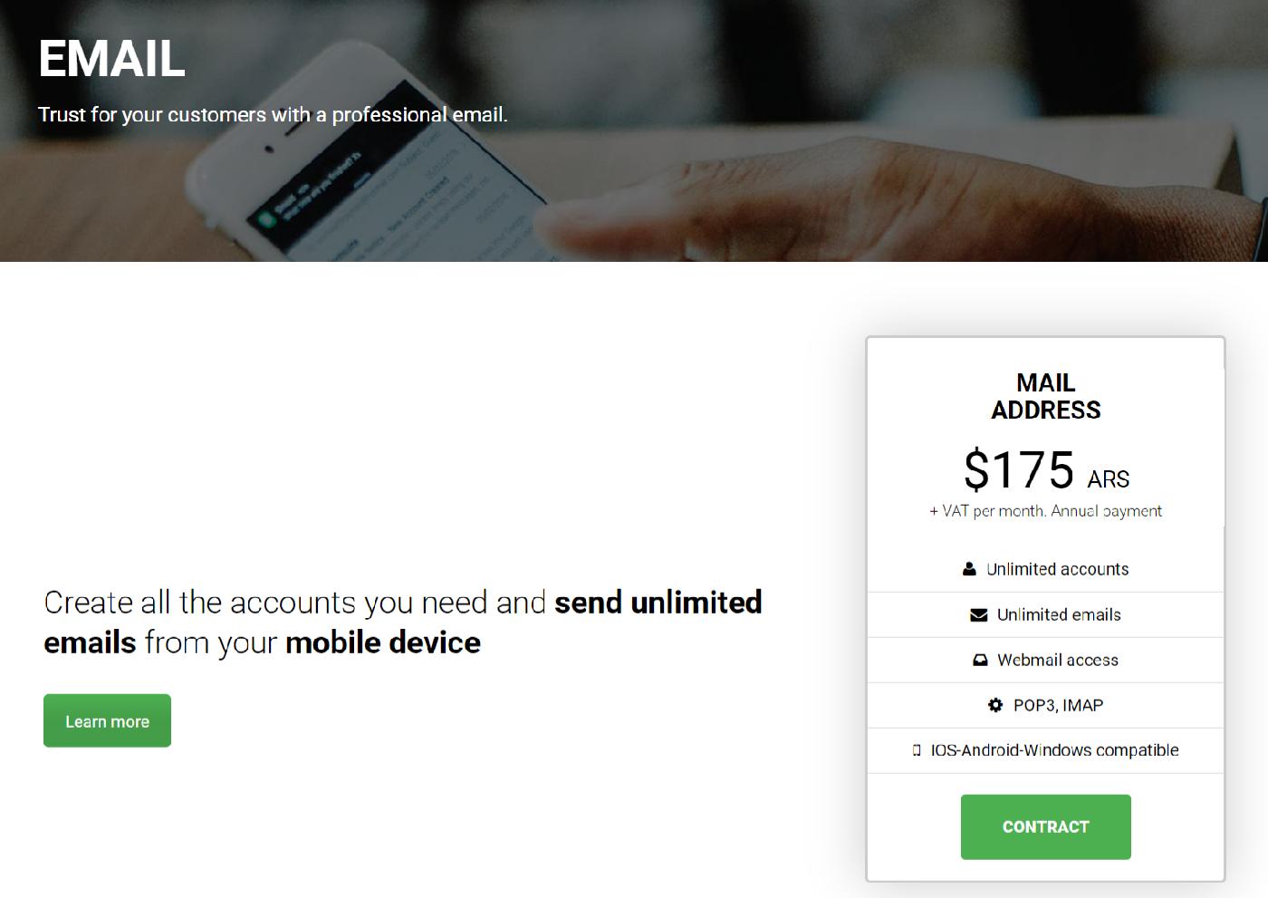 Para facilitarles el accesodefinió una nueva URL fácil de recordar, ahora accedes a través de mail.elserver.com o mail, tudominio.com