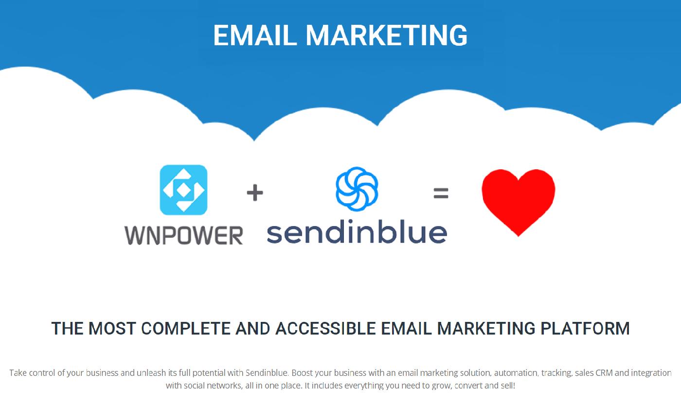 WNPower entrega cuentas de correo ilimitadas en sus planes, plataforma de email marketing es muy completa y asequible