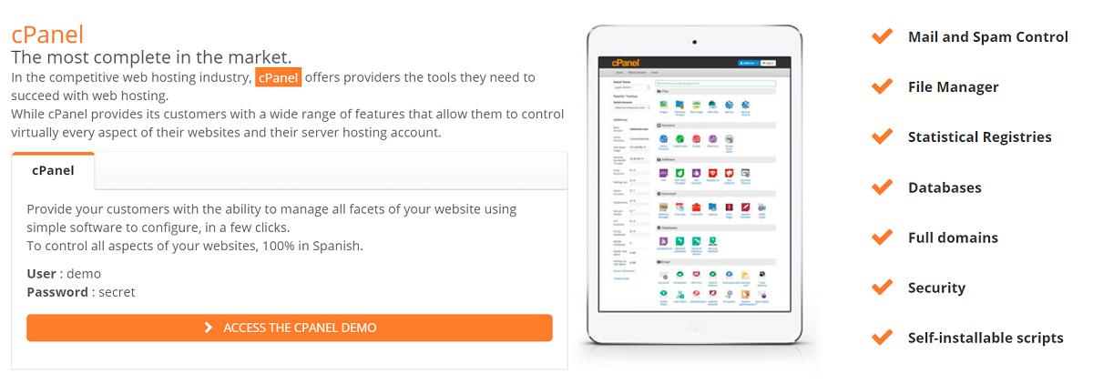 La facilidad de uso es una característica muy importante en todos los proveedores de servicios web disponibles en la red