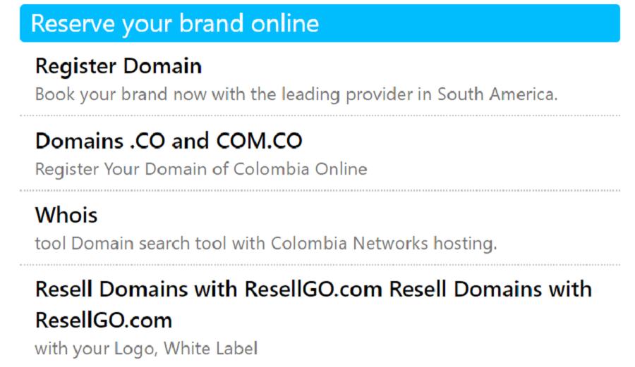 Este hosting ofrece dominios de pago con más creatividad y posicionamiento en el mercado
