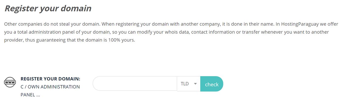 Los nombres de dominio son muy importantes porque de esta manera es que el mundo conocerá tu proyecto, servicio que ofrece hosting paraguay