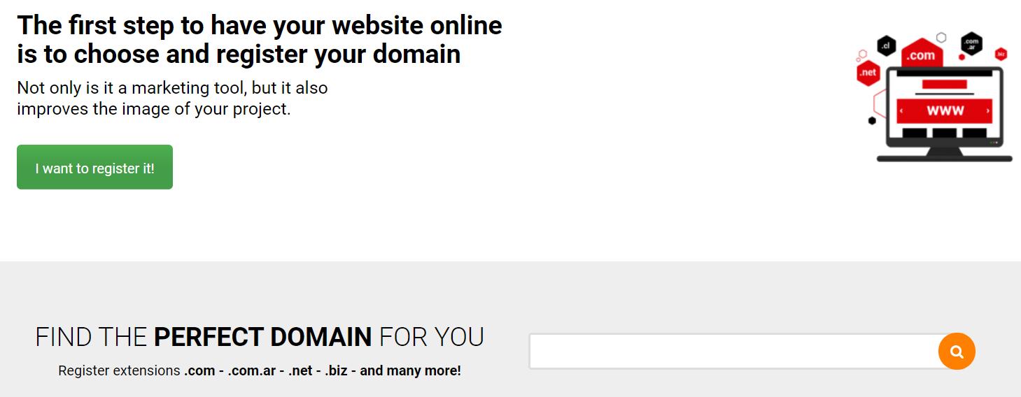 El nombre de dominio es único y exclusivo aparece luego del signo @ en las direcciones de email y después de www en las direcciones web