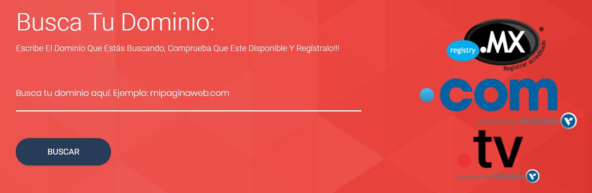 Por el momento, ofrece variedad de dominios al contratar un plan de hosting