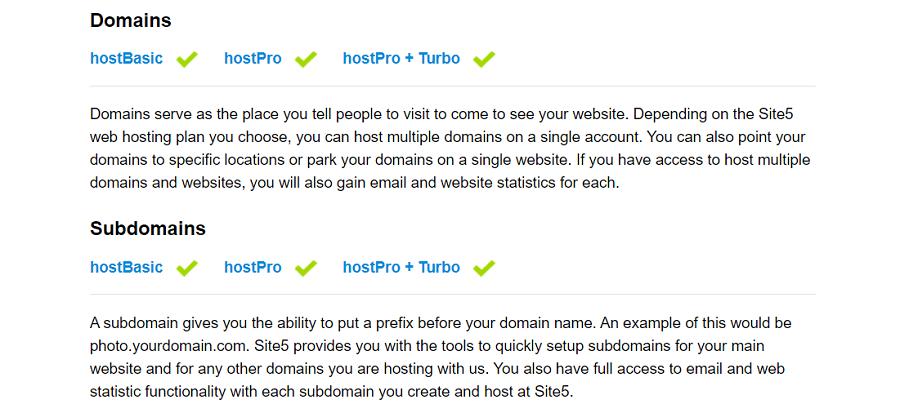 Site5 ofrece un buen servicio de registro de dominios a sus clientes