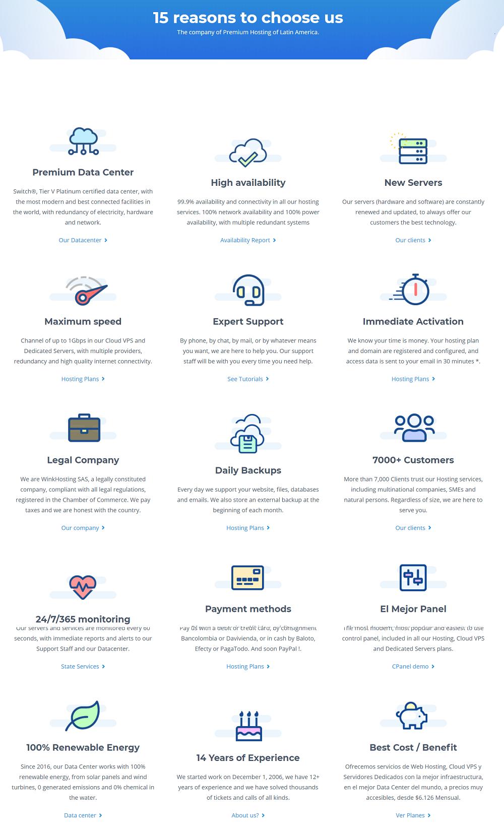 Wink Hosting es un buen proveedor de servicios de alojamiento para páginas web en Colombia