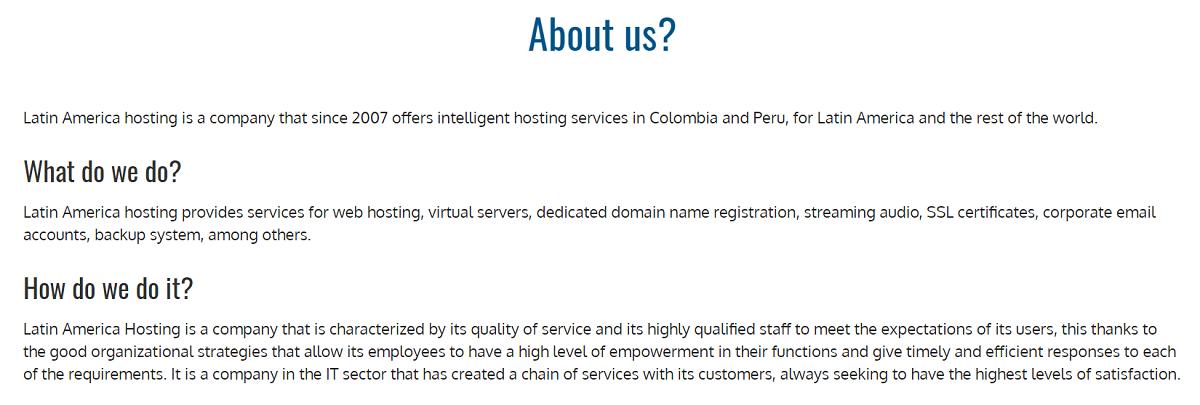 Es una empresa colombiana fundada en el 2007 con el firme propósito de brindar los mejores servicios web para Latinoamérica y el mundo