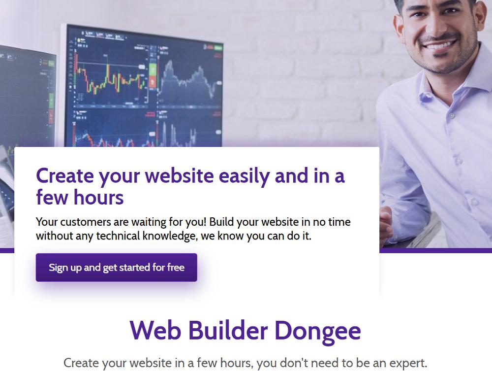 Si tienes algún proyecto, pero no dispones del tiempo necesario para desarrollarlo, Dongee ofrece el servicio de creación de sitios web
