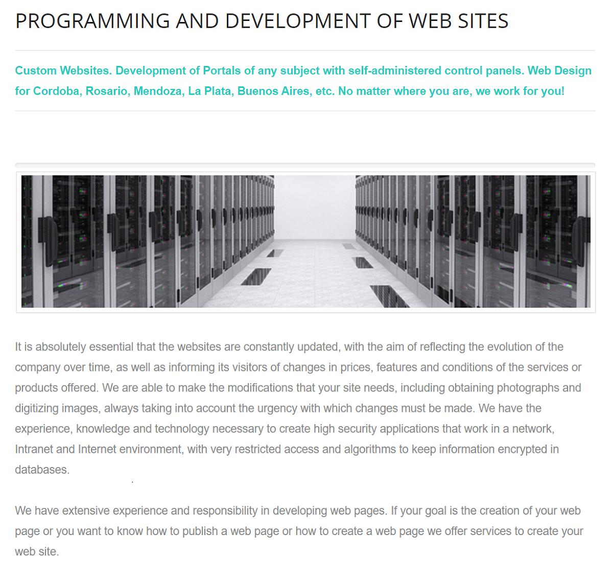 Efemosse Sistemas ofrece el servicio de desarrollo web a sus clientes