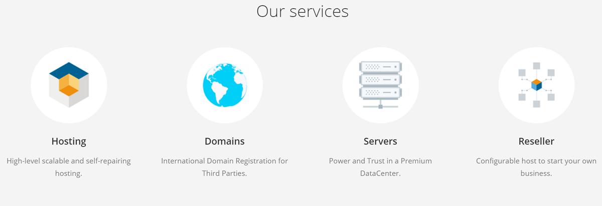Podemos observar que Hospedando.com.mx ofrece varios servicios en su página web oficial