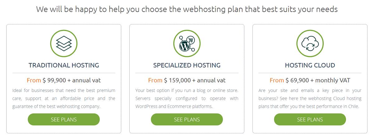 Hosting.cl tiene una gran cantidad de planes de hosting para ofrecer a sus clientes