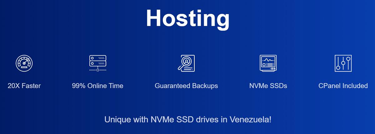 Este servicio es uno de los más destacados de Hosting SSI para Venezuela
