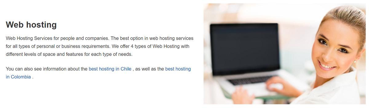 Además del tradicional servicio de hosting, puedes encontrar diversos planes para cualquier tipo de proyecto