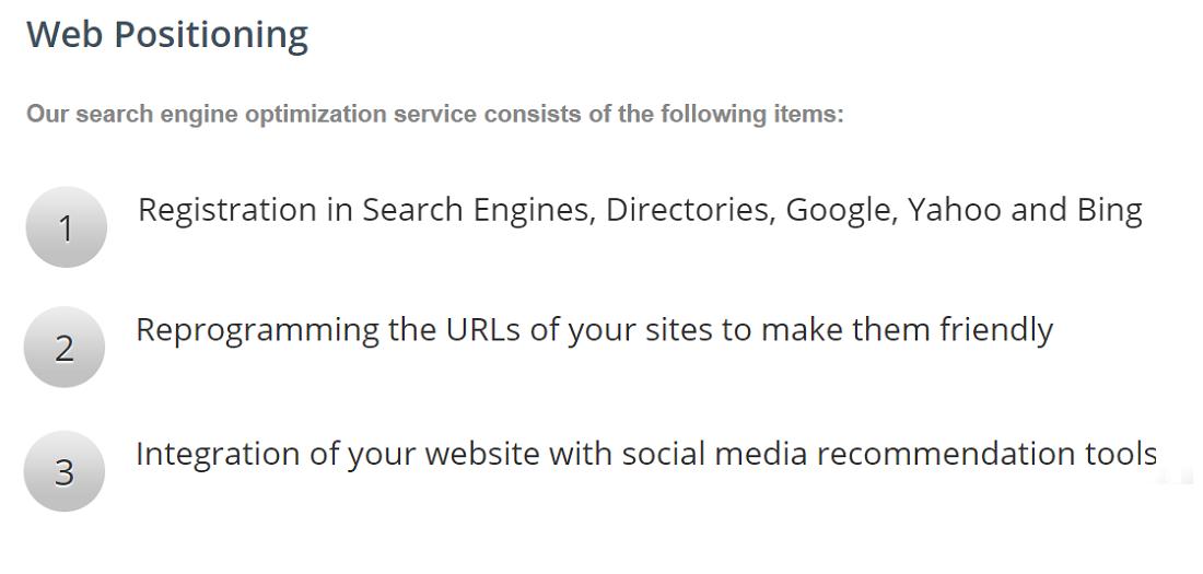 En Efemosse Sistemas también ofrecen su servicio para posicionar cualquier tipo de contenido