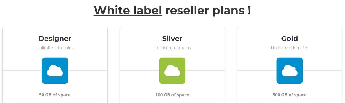 Arte Hosting también cuenta con servidores reseller, tres planes de marca blanca