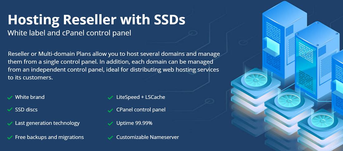 En los Planes Reseller o Multidominio se puede alojar varios dominios y gestionarlos desde un solo panel de control de Latinoamérica hosting.