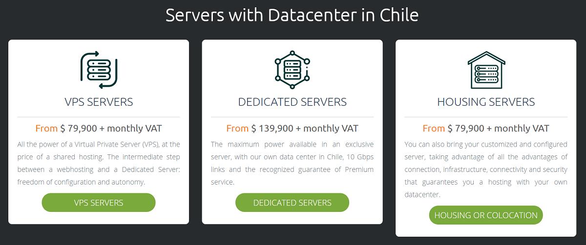 Hosting.cl cuenta con una gran cantidad de servidores, desde dedicados, hasta virtuales