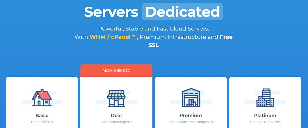 Wink Hosting ofrece varios planes de hosting dedicados, ideales para páginas web pequeñas o medianas