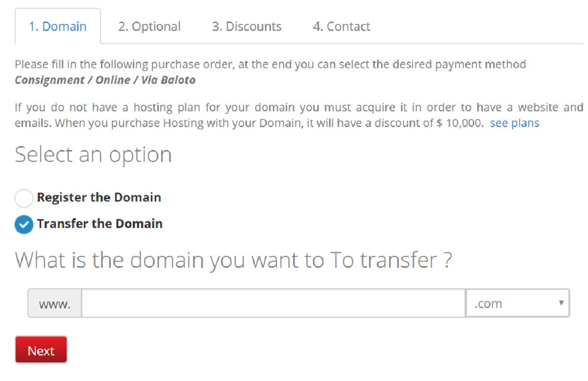 Las transferencias de dominio puedes realizarlas desde el panel de administración cPanel de dominios, sin importar qué dominio hayas escogido