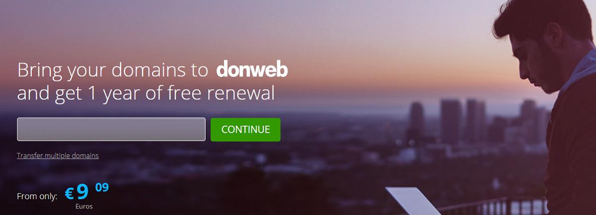 Donweb invita a todos los usuarios interesados a transferir sus dominios alojados con otros proveedores de servicio